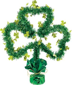Tinsel Shamrock Centerpiece