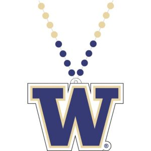Washington Huskies Pendant Bead Necklace