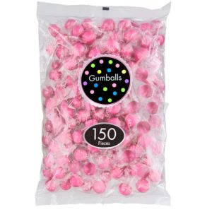 Bright Pink Gumballs 150pc