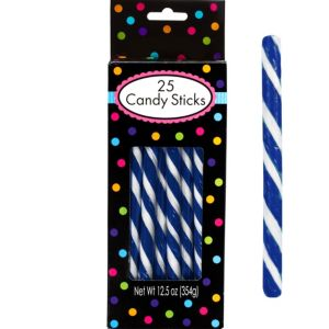 Royal Blue Candy Sticks 25pc