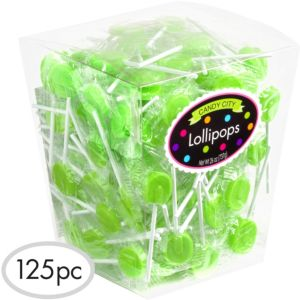 Kiwi Green Lollipops 159pc