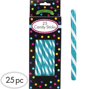 Caribbean Blue Candy Sticks 25pc