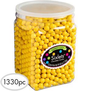 Yellow Chocolate Sixlets 1330pc