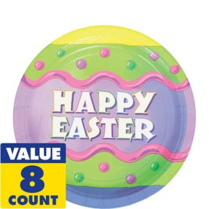 Happy Easter Dessert Plates 8ct