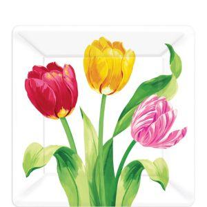 Spring Tulips Dessert Plates 8ct