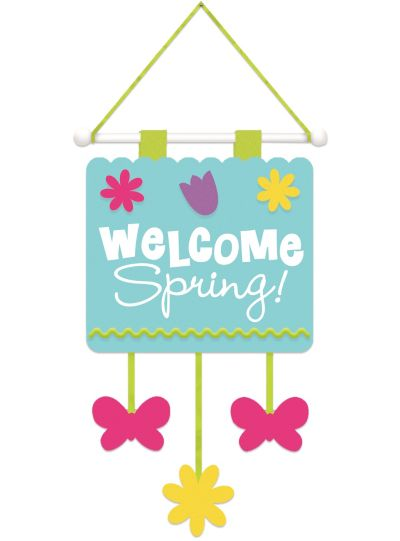 Spring Fabric Door Hanger