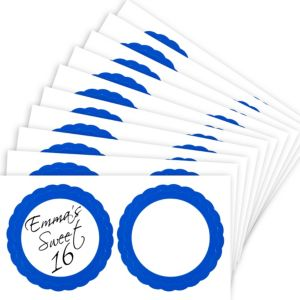 Royal Blue Favor Sticker Labels 20ct