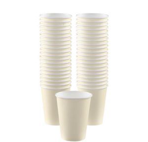 BOGO Vanilla Cream Paper Coffee Cups 40ct