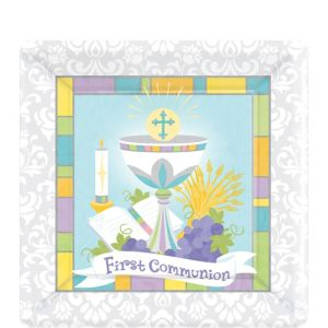 Joyous Communion Dessert Plates 18ct