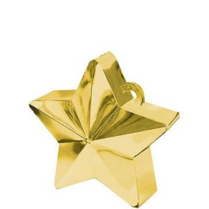 Gold Star Balloon Weight 6oz