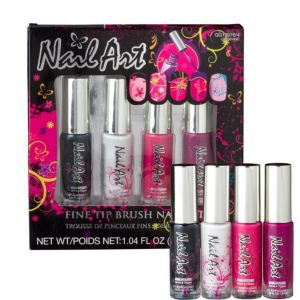 Fine Tip Nail Art Set 4ct