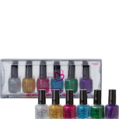Glitter Nail Polish Set 6ct