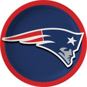New England Patriots Lunch Plates 18ct
