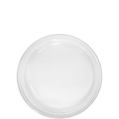 CLEAR Plastic Dessert Plates 20ct