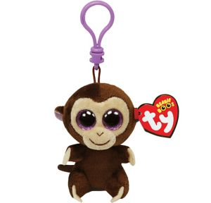 Clip-On Coconut Beanie Boo Monkey Plush