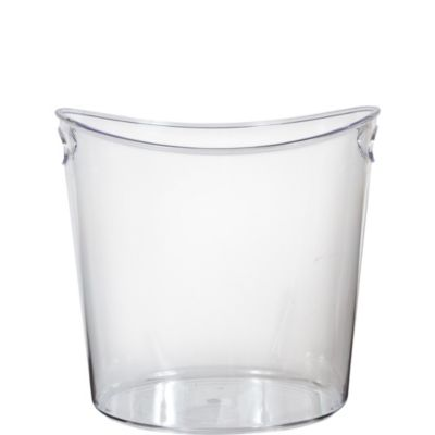 CLEAR Plastic Oval Ice Bucket