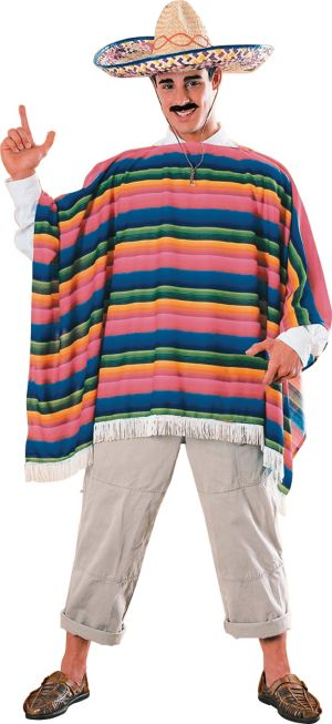 Adult Mexican Sombrero and Serape Costume