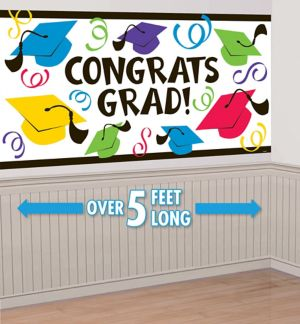 Congrats Grad Large Graduation Banner 65in   Party City S2dVzOG4