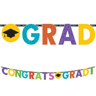 Colorful Commencement Letter Banner