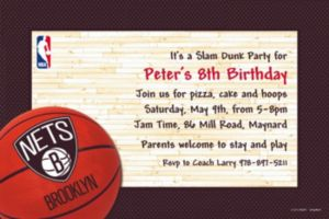 Custom Brooklyn Nets Invitations