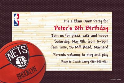 Brooklyn Nets Custom Invitation