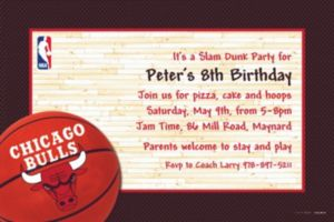 Custom Chicago Bulls Invitations