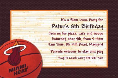 Miami Heat Custom Invitation