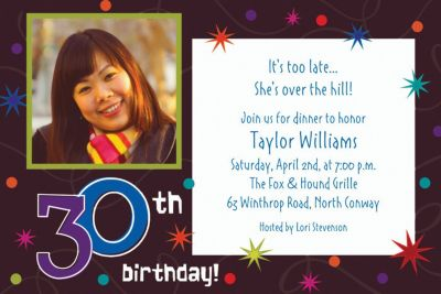 Custom The Party Continues 30th Birthday Photo Invitations