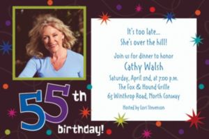 Custom The Party Continues 55th Photo Invitations