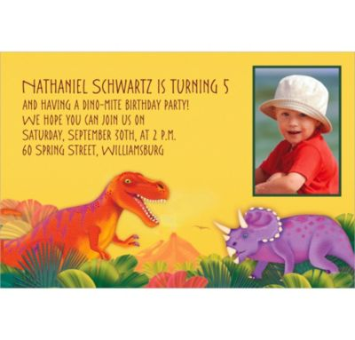 Custom Prehistoric Party Photo Invitations