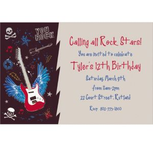 Custom Party Rock Invitations
