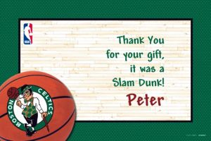 Custom Boston Celtics Thank You Notes