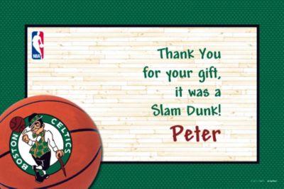 Custom Boston Celtics Thank You Notes