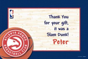 Custom Atlanta Hawks Thank You Notes