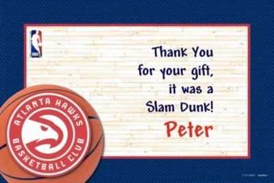 Atlanta Hawks Custom Thank You Note