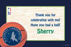 Custom Minnesota Timberwolves Thank You Notes