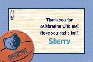 Custom Memphis Grizzlies Thank You Notes