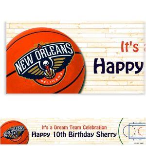 Custom New Orleans Pelicans Banner 6ft