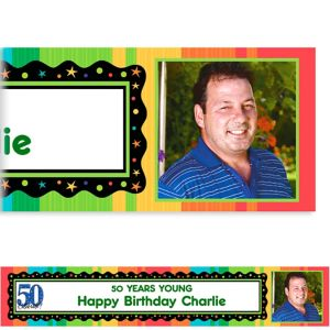Custom A Year to Celebrate 50th Photo Banner 6ft