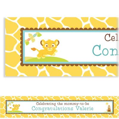 Lion King Baby Shower Custom Banner 6ft