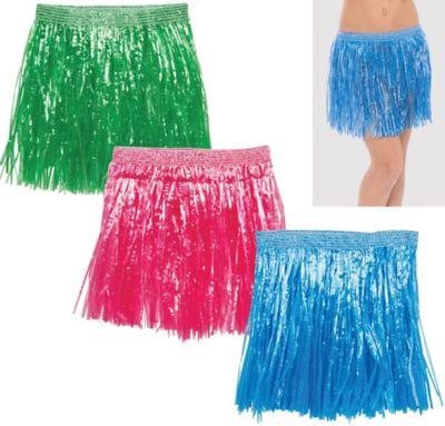 Child Hula Skirts 3ct