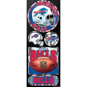 Prismatic Buffalo Bills Stickers 5ct