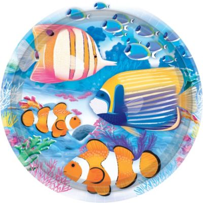 Tropical Summer Lunch Plates 8ct