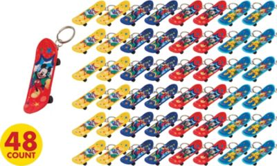 Mickey Mouse Skateboard Keychains 48ct