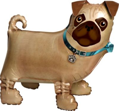 Precious Pug Balloon Buddy 19in x 17in