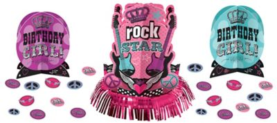 Rocker Girl Centerpiece Kit 23pc