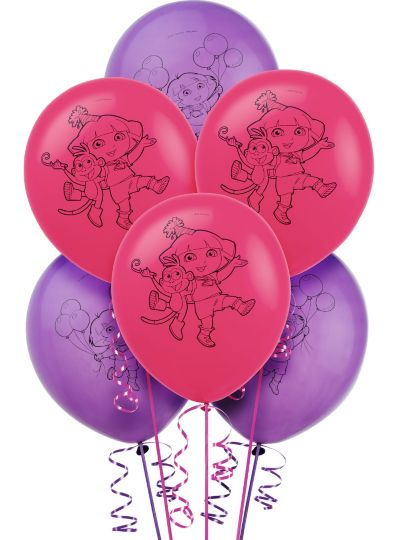 Dora the Explorer Balloons 6ct