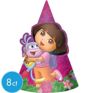 Dora the Explorer Party Hats 8ct