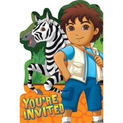 Go, Diego, Go! Invitations 8ct