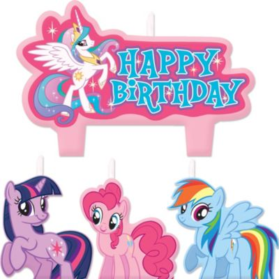 My Little Pony Birthday Candles 4ct